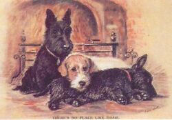 2 Scotties  Sealy - MATTED Dog Print - Lucy Dawson