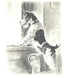 ** Wire Fox Terrier - Dog Print - M. Dennis CLEARANCE