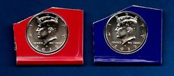2013 P And D - Bu Kennedy Half Dollar Update Set - Two Coins- In Mint Plastics