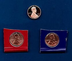2013 P D And S - Bu And Proof Lincoln Penny Cent Update Set- Three Coins