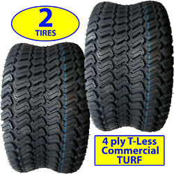 2 18x8.50-10 18/8.50-10 Riding Lawn Mower Garden Tractor Turf Tires P332 4ply