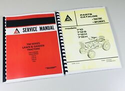 Lot Allis Chalmers 700 Series Parts Catalog And Service Manual Lawn Garden Tractor