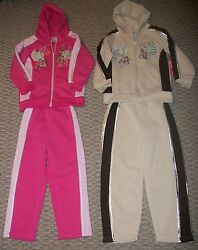 Lot Of 2 Rock Star Guitar Girls Track Suits Hoodie And Pants Sets Sz 5 6