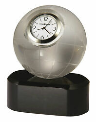 Howard Miller Miniature Etched Globe Crystal Clock - The Axis 645-719