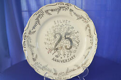 Vintage 25th Silver Anniversary Plate 3503 Fine Quality Lego Japan
