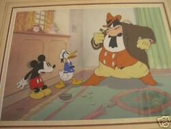 Moving Day Mickey Mouse Donald Duck Pete Framed Disney Cel Limited Edition