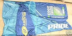 T10. Huge 2003 Rugby Union World Cup Street Flag / Pennant