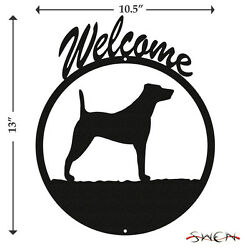 Jack Russell Terrier Black Metal Welcome Sign *NEW*