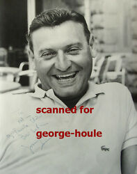 Frankie Laine - 11x14 - Vtg - Inscribed - Lacoste Shirt - High Noon
