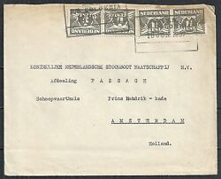 Netherlands 1937 Shipcover Knsm M/s Colombia To Amsterdam