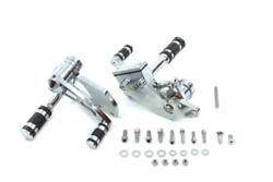Vtwin +3 Extended Billet Forward Control Kit 91-17 Harely Dyna Fxd Fxdwg Fxdl