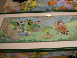 Sherwood Forest Group Signed Chuck Jones Framed Wb Cel Bugs Bunny Looney Tunes