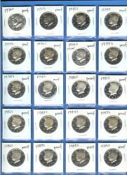 1970 Through 1989 Proof Kennedy Set Of 20-includes 1976 S Silver