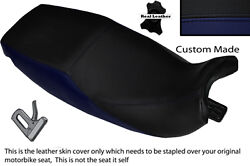 Navy Blue And Black Custom Fits Triumph Trophy 900 1200 91-95 Dual Seat Cover