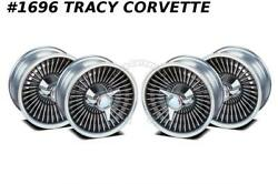 1965 Corvette Knock Off Aluminum Wheel Set W/spinners And Hardware 15x6 New