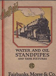 Vintage Catalog 2706 - 1926 Sheffield Train Water - Oil Standpipes - Fixtures