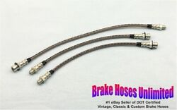 Stainless Brake Hose Set Oldsmobile 66 And 68 Special 1941 1942 1946 1947 1948