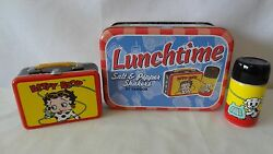 Vandor 2001 Betty Boop And Pudgy Lunch Tote Salt And Pepper Shakers Mit G393