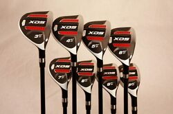 Big Tall Long +3 Custom Made Xds Hybrid Golf Clubs 3-pw Set Taylor Fit Graphite