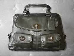 COACH Exclusive Archive Ltd Ed Peyton GRAY Leather Legacy Tote Bag Satchel