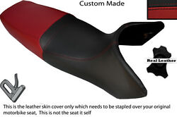 Black And Dark Red Custom Fits Yamaha Gts 1000 Dual Leather Seat Cover Only
