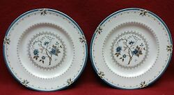 Royal Doulton China Old Colony Tc1005 Pattern Salad Plate -set Of Two 2 8-1/8