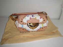 Auth Louis Vuitton White Multicolot Marilyn Discontinued Excellent