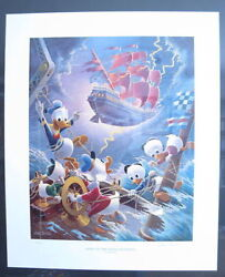 Barks Lithographie Afoul Of The Flying Dutchman Sign.