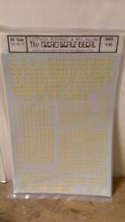 Micro Scale Decals Ho Scale Rh-80-6 Extended Alphabet And Numbers Yellow