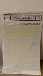 Cut Micro Scale Decals Ho Scale Rh-80-6 Extended Alphabet And Numbers Yellow Cut