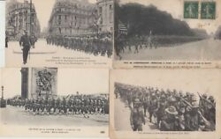 Us Military Americans In Europe Ww1 40 Vintage Postcards Mostly Pre-1940 L2554