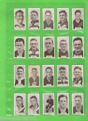 Dd. Full Set 1933 Vfl Footballers Wills Cigarette Cards 1 To 200