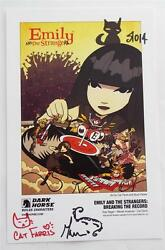 Signed + Sketches Emily And The Strangers Breaking The Record  Sdcc 2014 Card