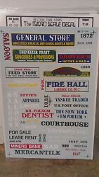 Micro Scale Decals 87-164 Ho Scale Western Town Signs