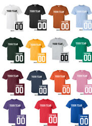 CUSTOM T-Shirt JERSEY Personalized ANY COLOR Name Number Team Softball Football $15.99
