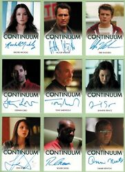Continuum Seasons 1 And 2 Ultimate Master Set With 22 Autograph Cards