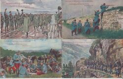 Military With Advertising Frere Marseille 11 Vintage Postcards Mostly Pre-1940