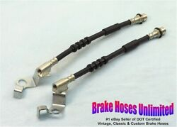 Front Brake Hoses Ford Custom 1967 Early, Before 10-15-1966, Disc