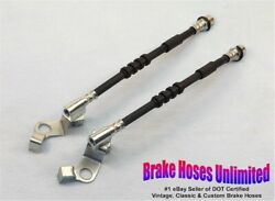 Front Brake Hoses Ford Custom 1967 Late, After 10-15-1966, Disc