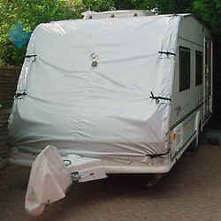 Caravan Towing Front Cover. Touring Van Chip Protection. 7' width by 8' drop