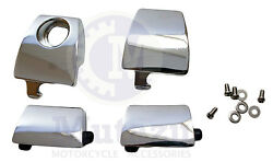 Premium Chrome Latch Kit for Harley King Ultra Tour pak, Compare to 53000252