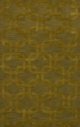 Green Rectangles Loops Rounded Squares Transitional Area Rug Geometric Dv7