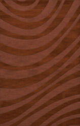 Red Waves Swirls Stripes Lines Transitional Area Rug Abstract Dv12