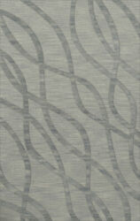 Blue Swirls Waves Lines Stripes Transitional Area Rug Abstract Dv10