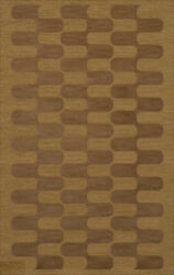 Yellow Transitional Hand Hooked Waves Curves Blocks Area Rug Geometric Dv9