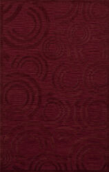 Red Transitional Loops Rings Area Rug Circles Dv3