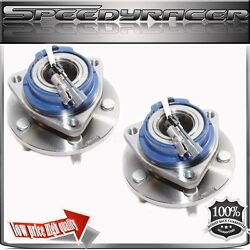 Pair Chevy Aztek Rendezvous Venture Front Wheel Hub Bearing Abs Assembly Awd