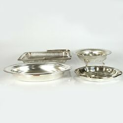 Lot Of 4 Silver Plated Bowls