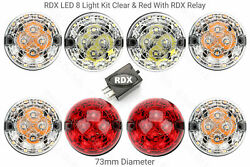 8 Rdx 200tdi Led Light/lamps Kit For Land Rover 90/110 1983 To 1994 Red And Clear
