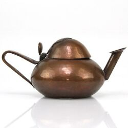 Arts And Crafts Copper Oil Lamp France Ca 1900